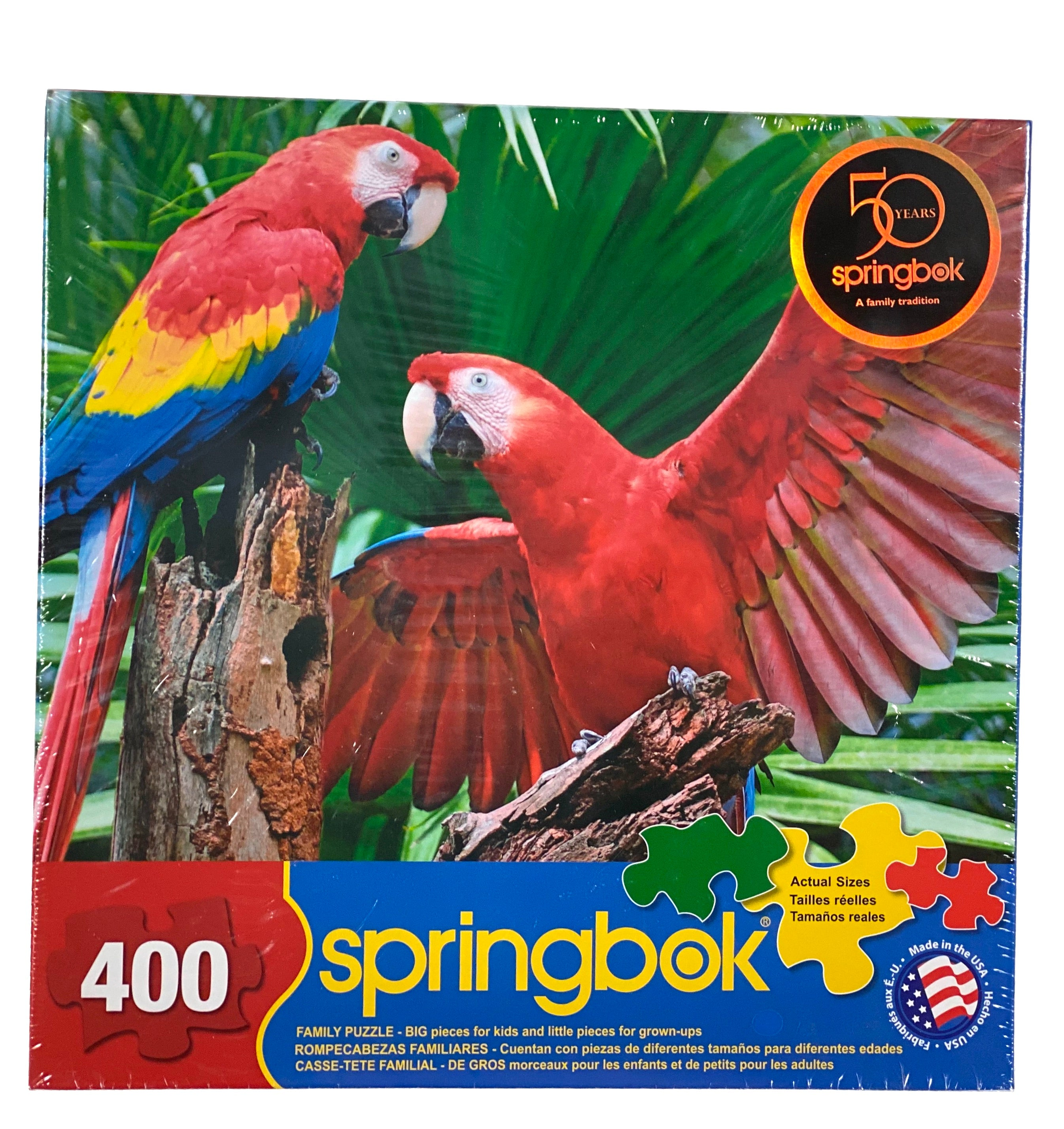 Scarlet Macaw 400 Piece Family Puzzle