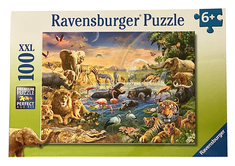 Savannah Jungle Waterhole 100 Piece Puzzle