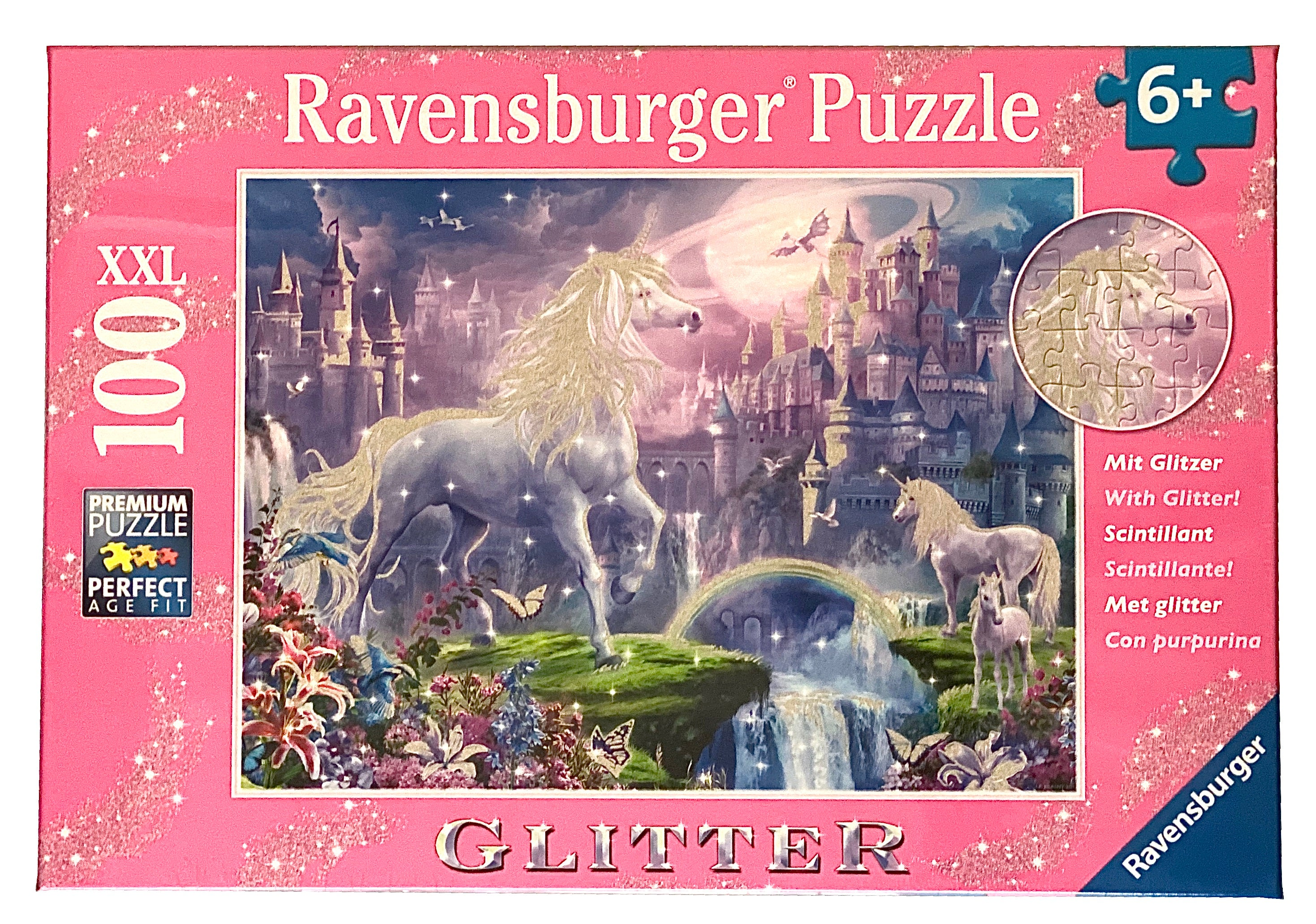Glitter Unicorn Kingdom 100 Piece Puzzle
