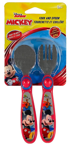 Disney Mickey Mouse Fork And Spoon