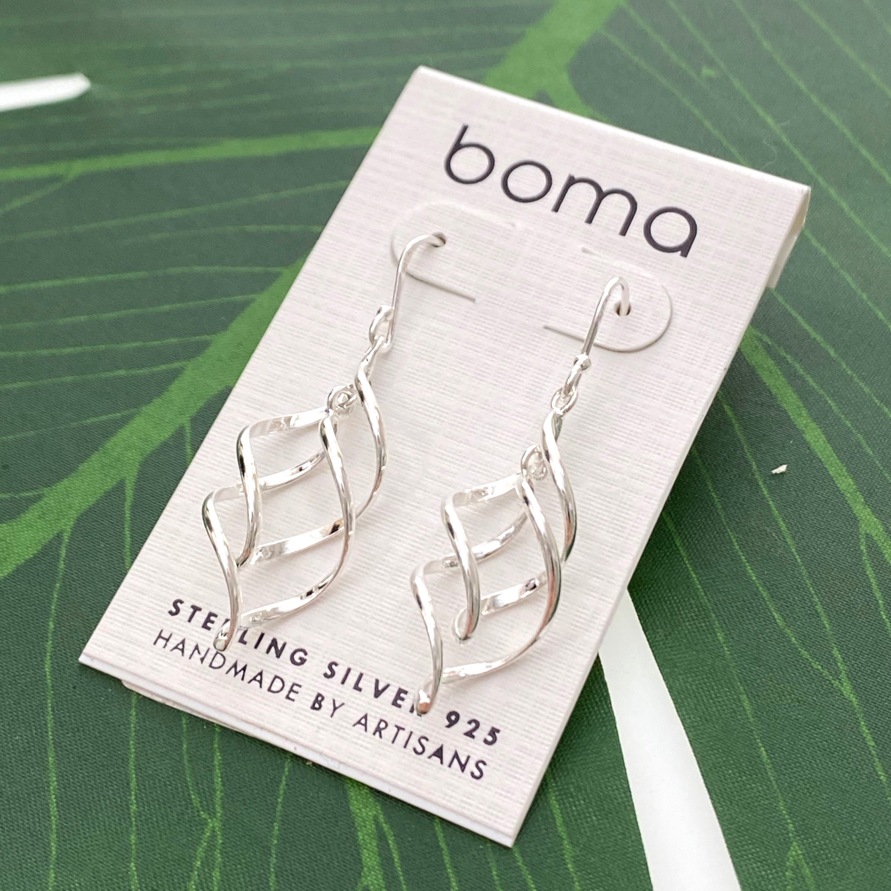 Boma Sterling Silver Earring - Double Spiral