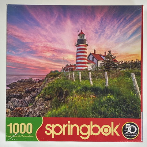 West Quoddy Head Lighthouse 1000 Piece Puzzle
