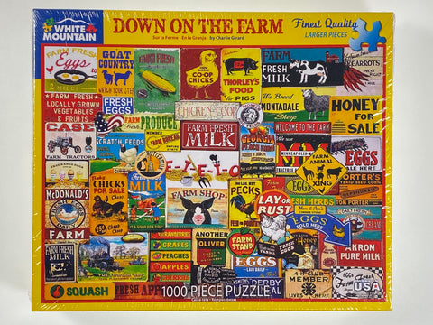 Down on the Farm 1000 piece puzzle