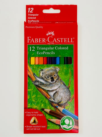 Faber-Castell 12 Triangluar Colored EcoPencils