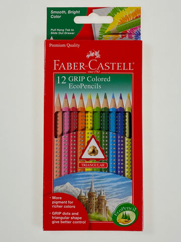 Faber-Castell 12 Triangular Colored Grip EcoPencils