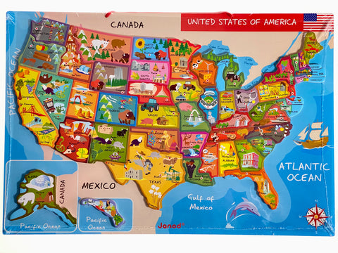 Magnetic Jigsaw Map of the USA