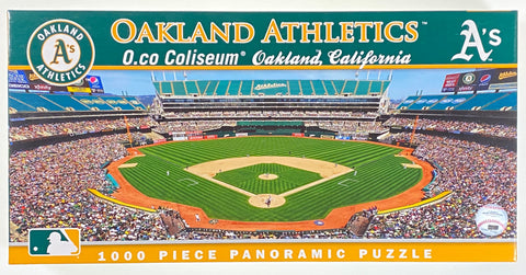 Oakland Athletics 1000 Piece Panoramic Puzzle