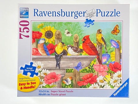 Bathing Birds 750 Piece Puzzle