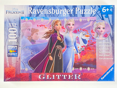 Strong Sisters Frozen II Glitter 100 piece puzzle