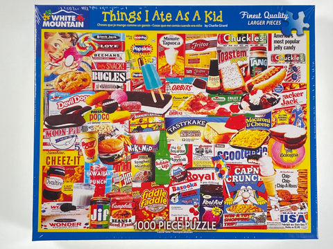 Things I Ate as a Kid 1000 piece puzzle
