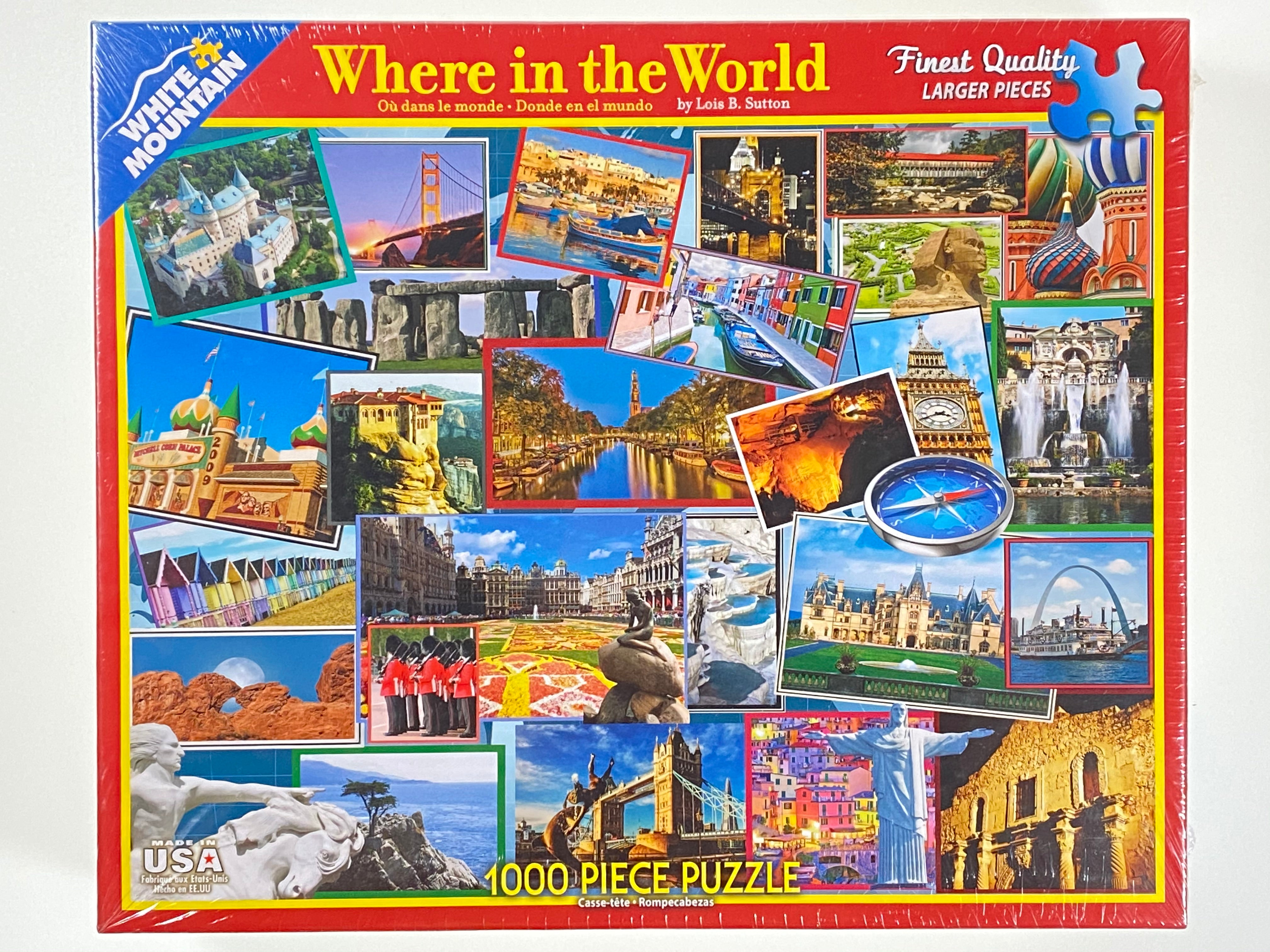 Where in the World 1000 piece puzzle