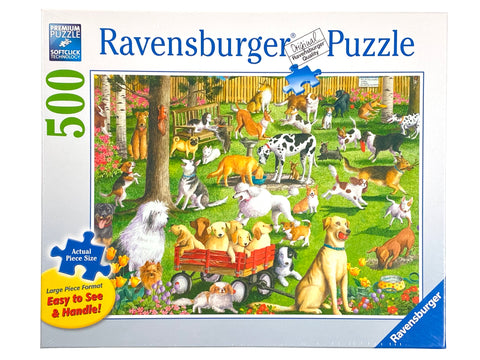 At the Dog Park large format 500 piece puzzle