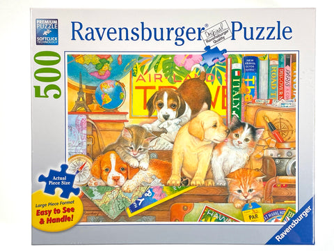 Pets on Tour large format 500 piece puzzle