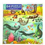 Otters at Play 64 piece puzzle