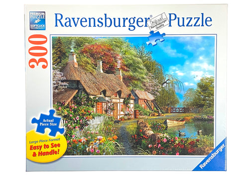 Cottage on a Lake large format 300 piece puzzle