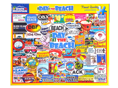 A Day at the Beach 1000 piece puzzle