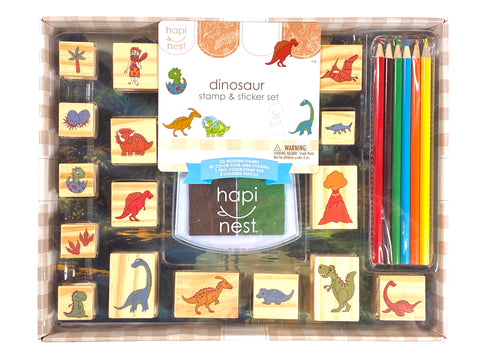 Dinosaur Stamp and Sticker Set