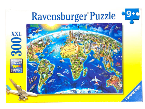 World Landmarks Map 300 piece puzzle