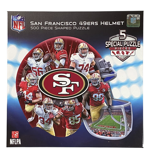 San Francisco 49ers Helmet 500 Piece Shaped