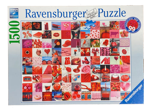 99 Beautiful Red Things 1500 piece puzzle