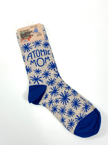 Blue Q Womens Crew Sock Atomic Mom