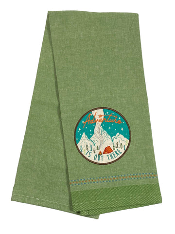 Embellished Aplique Dishtowel Adventure Is Out There