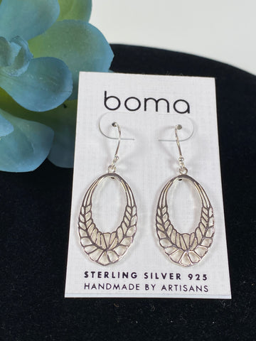 Boma Sterling Silver Earring Open Oval
