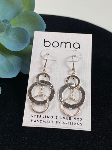 Boma Sterling Silver Earring Triple Circles