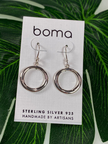 Boma Sterling Silver Earring Simple Circle