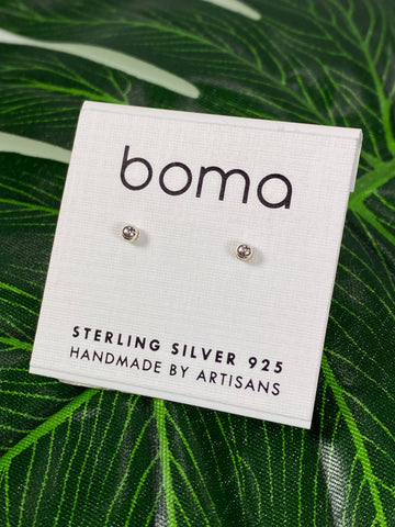 Boma Stirling Silver Post Earring 2.5mm Ball