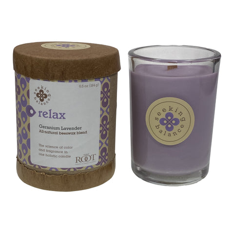 Root Candles Seeking Balance 6.5oz Spa Candle Relax