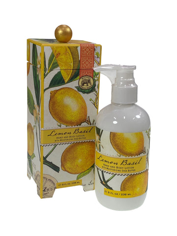 Lemon Basil Hand and Body Lotion with Shea Butter