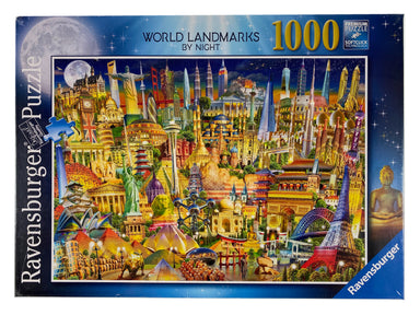 World Landmarks by Night 1000 piece puzzle