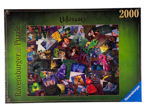 Disney Villainous The Worst Comes Prepared 2000 piece puzzle.
