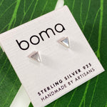 Boma Sterling Silver Post Earring Flat Triangle