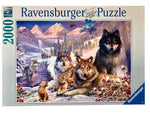 Wolves In The Snow 2000 Piece Puzzle