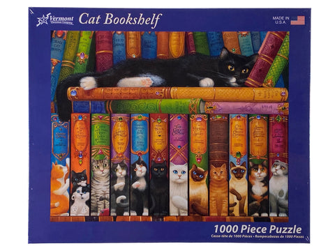 Cat Bookshelf 1000 Piece Puzzle