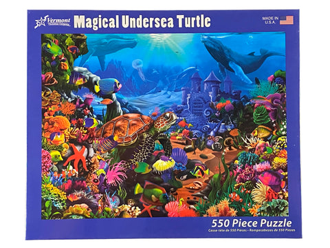Magical Undersea Turtle 550 Piece Puzzle