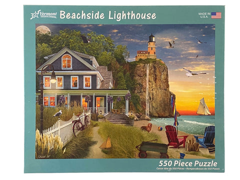 Beachside Lighthouse 550 Piece Puzzle