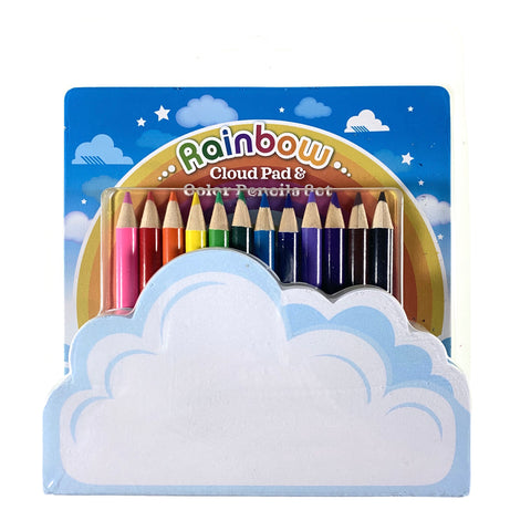 Rainbow Cloud Pad & Color Pencils Set