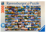 99 Beautiful Places Of Europe 3000 Piece Puzzle