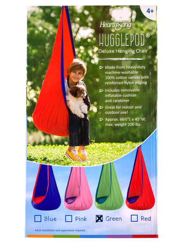Hugglepod Deluxe Hanging Chair - Green