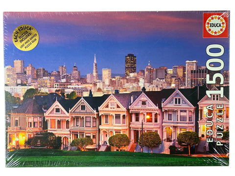 Painted Ladies San Francisco 1500 Piece Puzzle