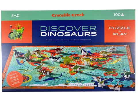 Discover Dinosaurs 100 Piece Puzzle and Play Set