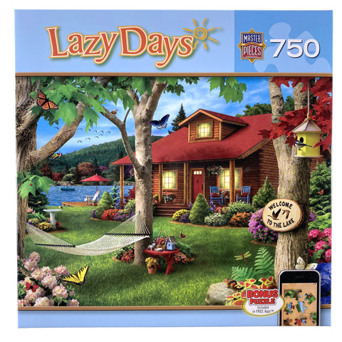 Lazy Days Lakeside Retreat 750 Piece Puzzle