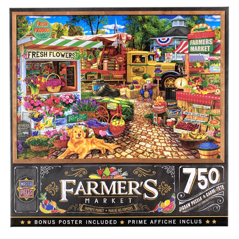 Farmers Market Sale On The Square 750 Piece Puzzle