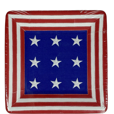 Star Spangled Paper Lunch or Dessert Plate
