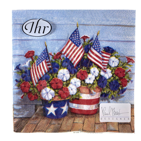 Patriotic Petunias Cocktail Napkkins