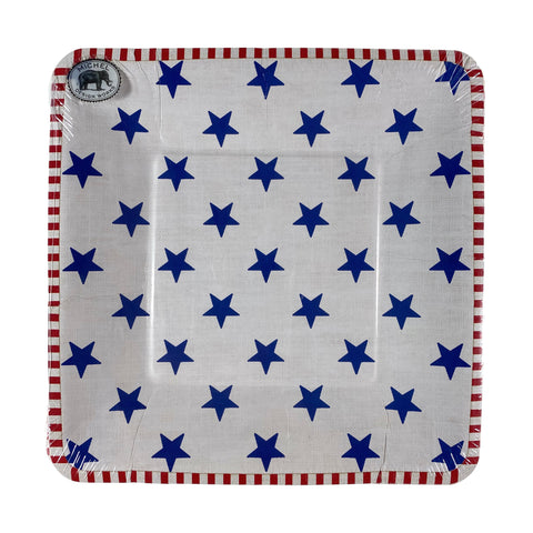 Stars And Stripes Paper Lunch or Dessert Plates