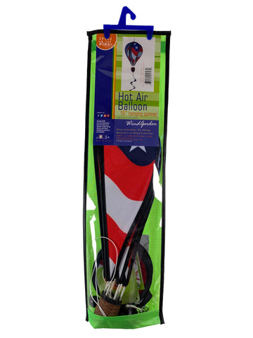 Hanging Spinner 16 Inch Hot Air Balloon - Patriotic